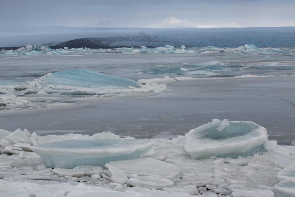 Ice blocks on the south part of Jökulsarlon