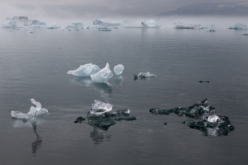 Ice formation on Jökulsarlon