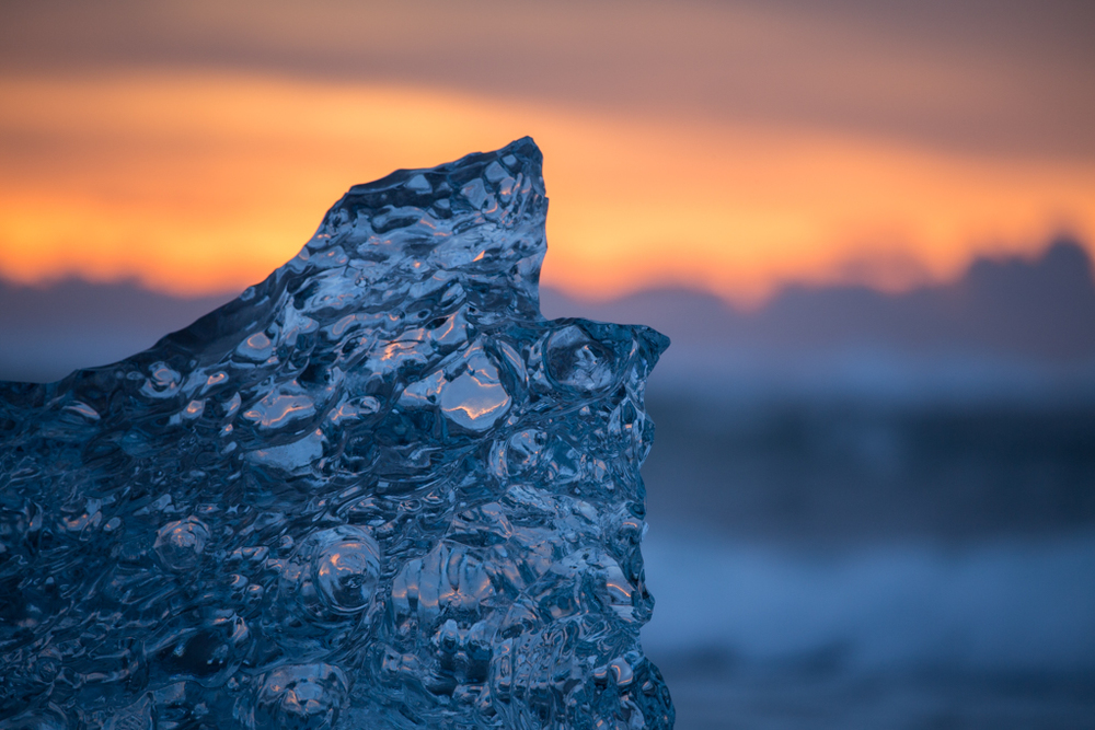 Ice block like a diamond