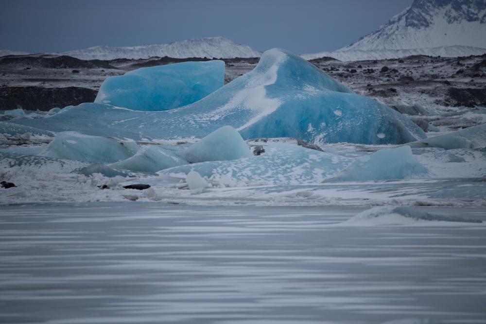 Blue ice on Jökulsarlon