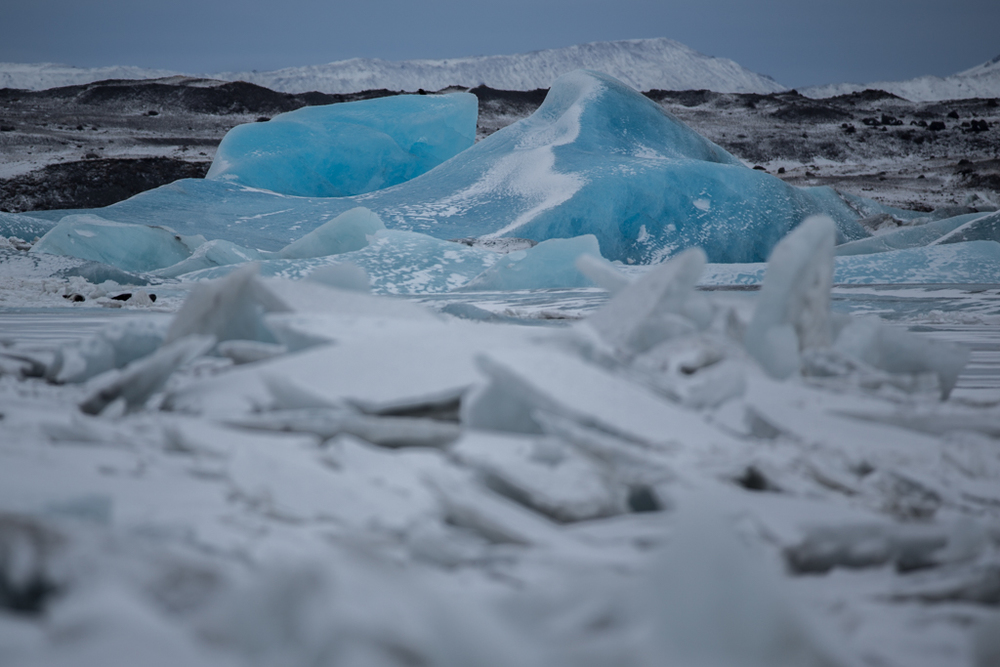 Stacks of ice