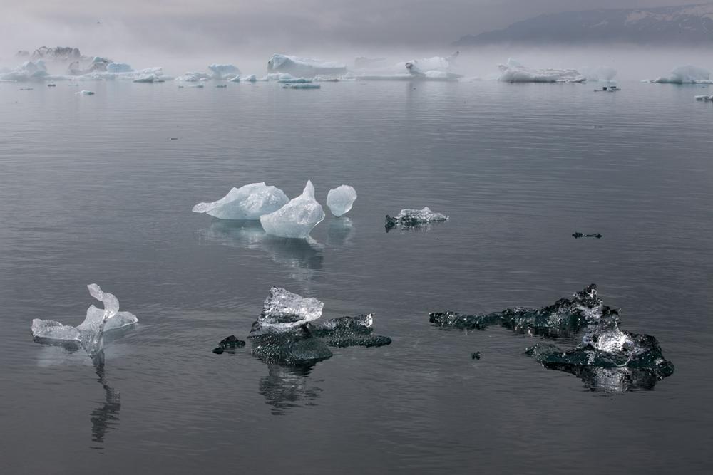 Ice formations on Jökulsarlon