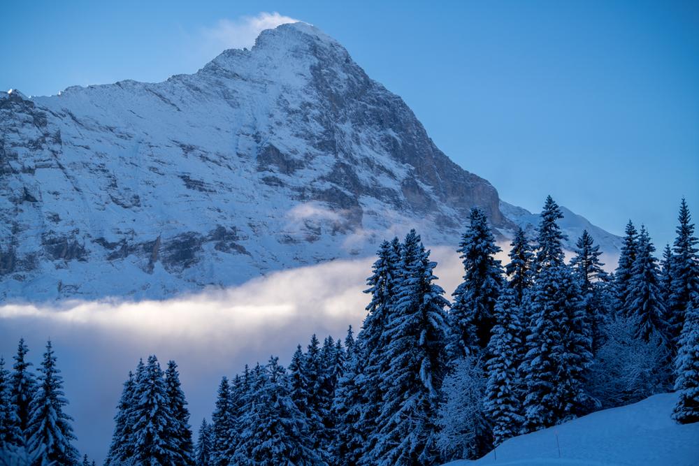 Eiger Northface in winter