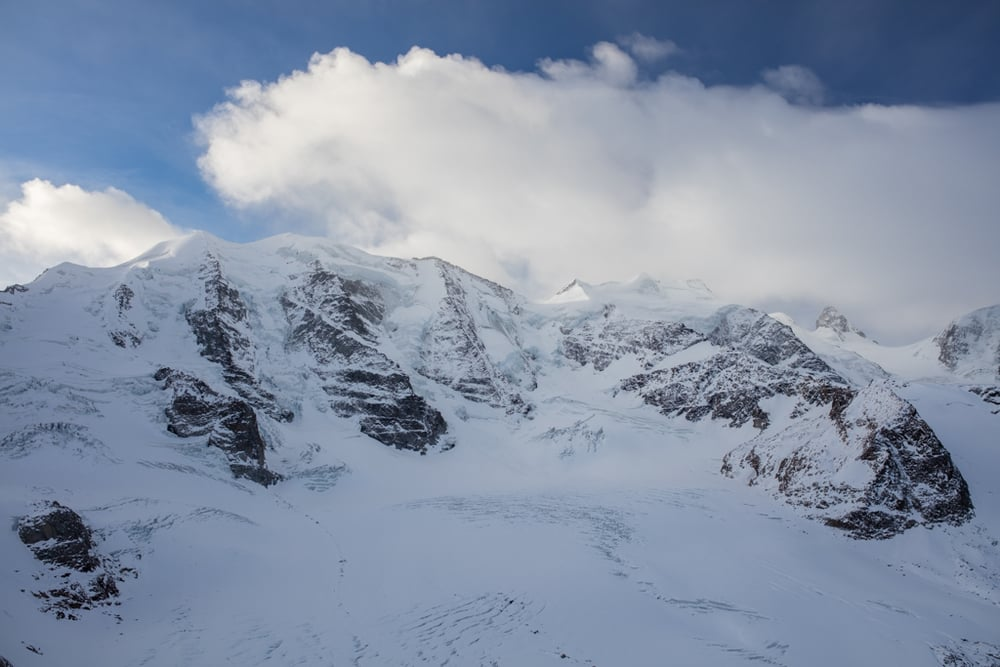 Piz Palü in the early morning