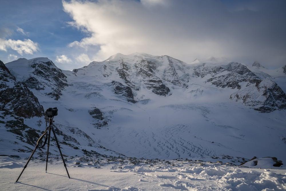 Camera setup at Piz Palü