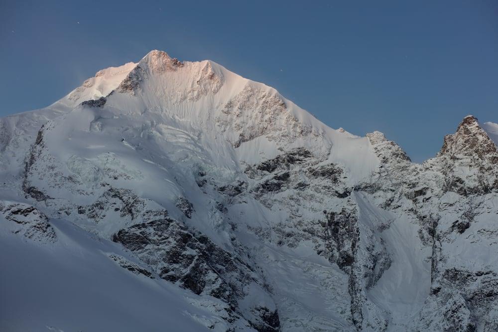Bianco ridge of Piz Bernina