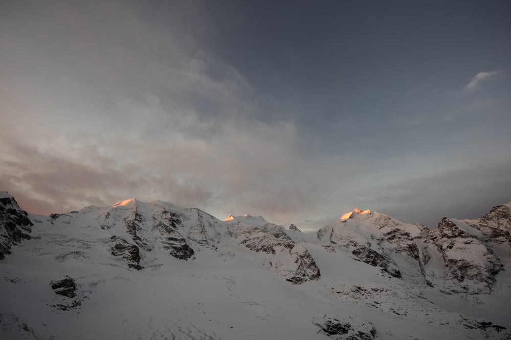 Panorama from Diavolezza in January
