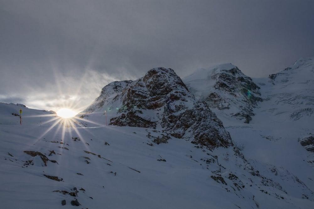 Sunstar near Piz Palü