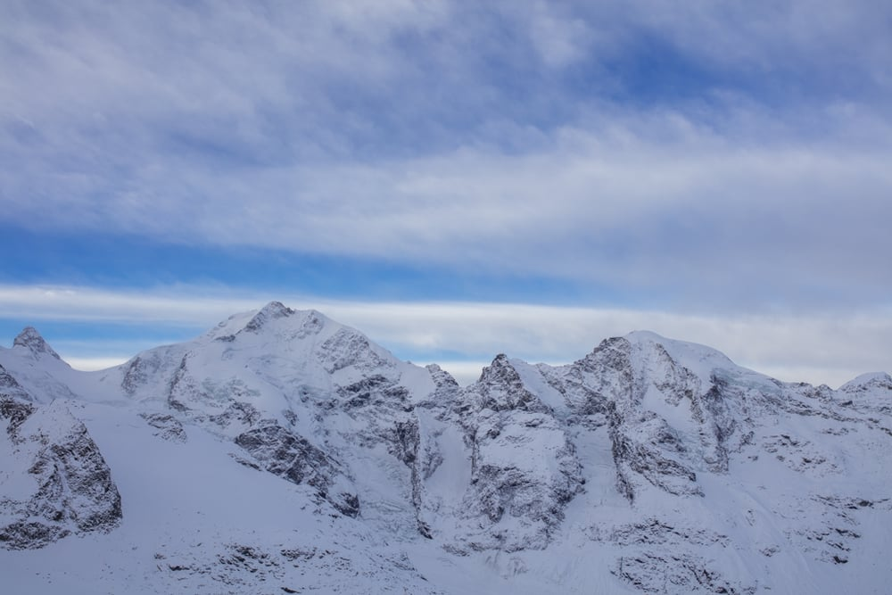Piz Bernina in the morning