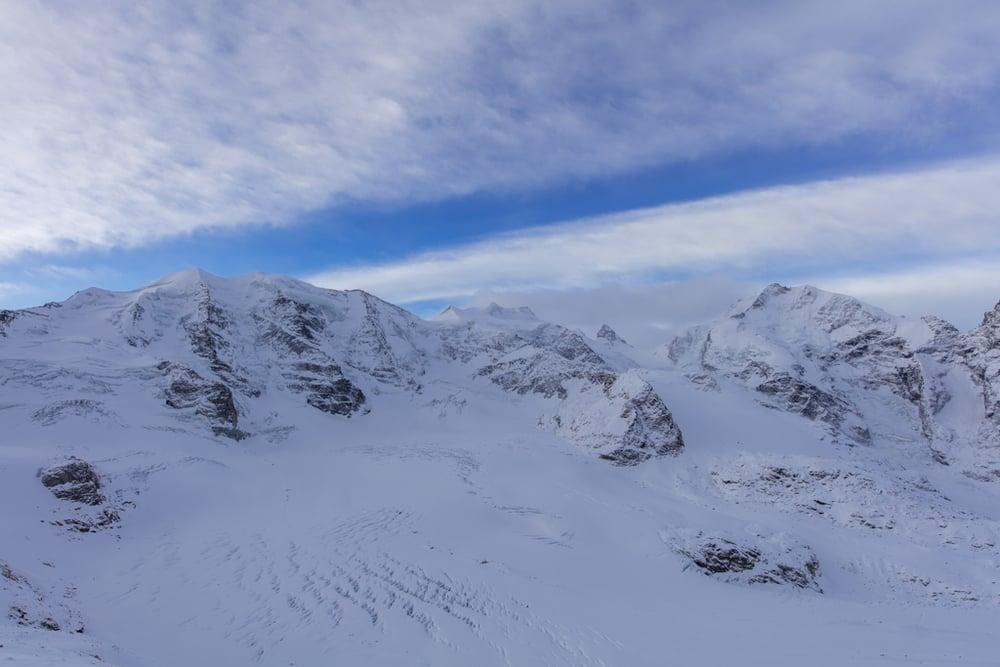 Panorama Piz Palü & Piz Bernina