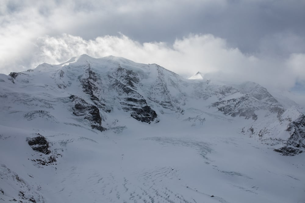 Clouds behind Piz Palü