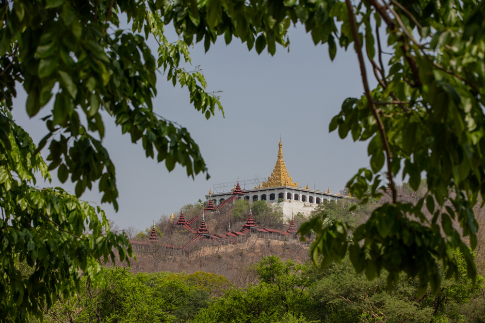 View back to Mandalay hill