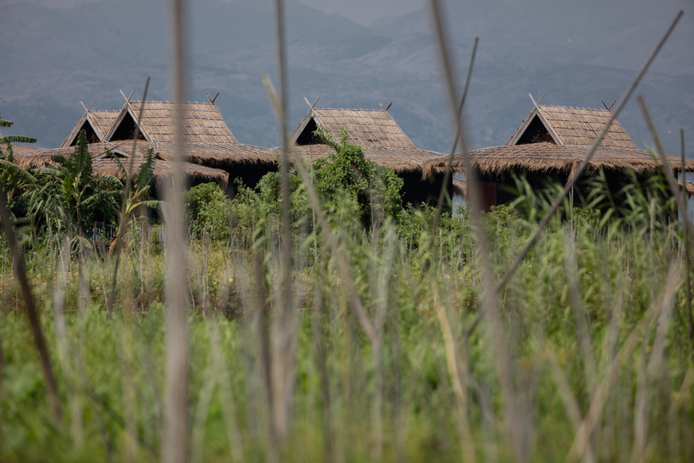 Stilt houses near Inle Lake