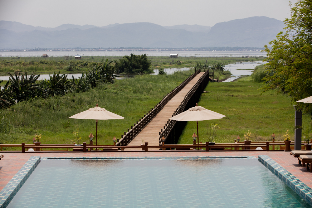 Luxury resort at Inle Lake