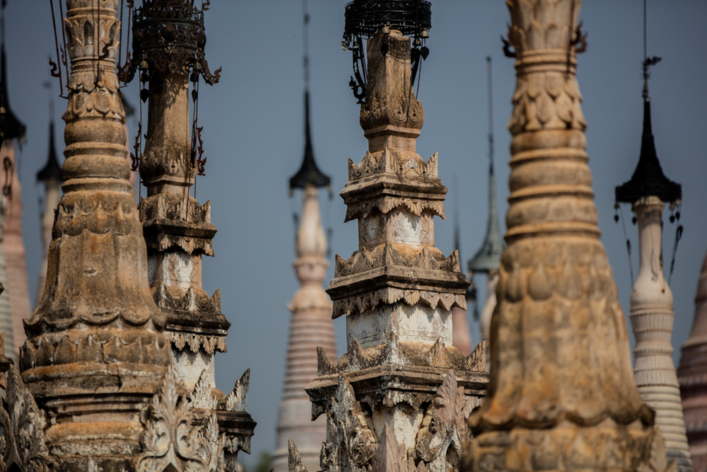 Kakku pagodas in Myanmar