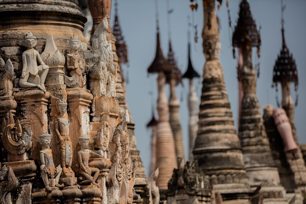 Peaks of pagodas in Kakku