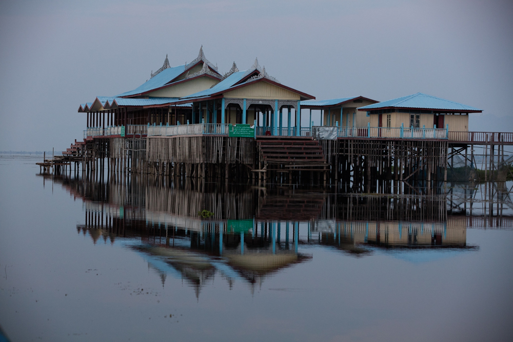 Inle Lake before sunrise