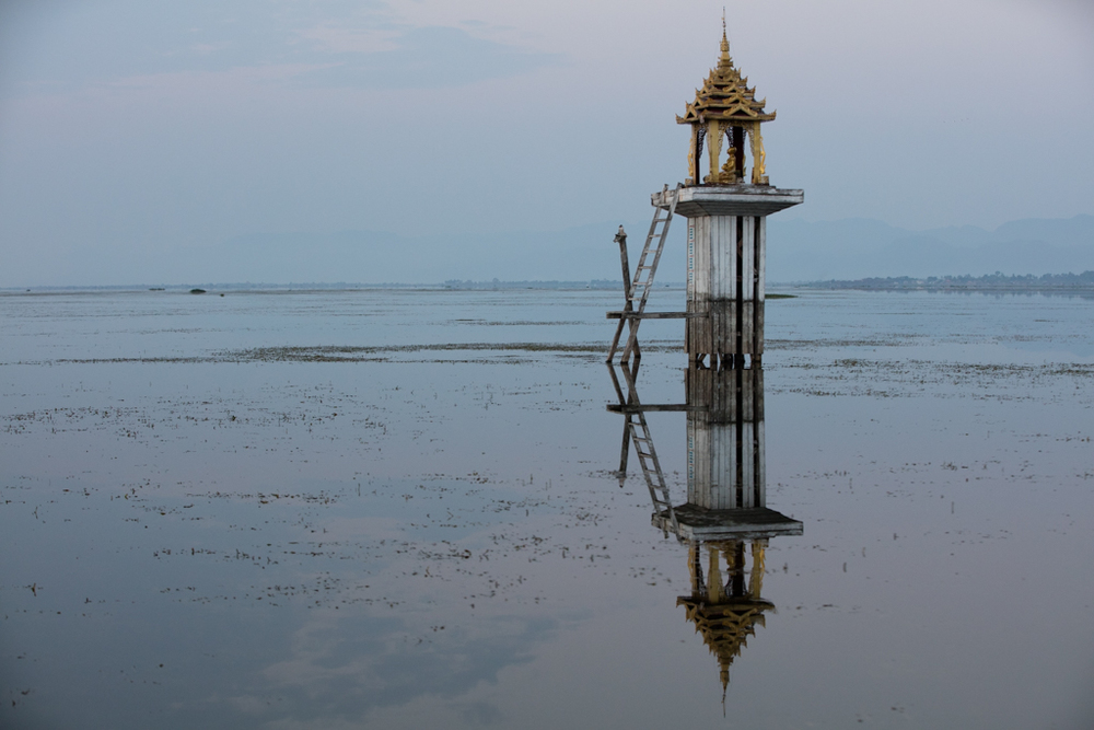 Mirroring in Inle Lake
