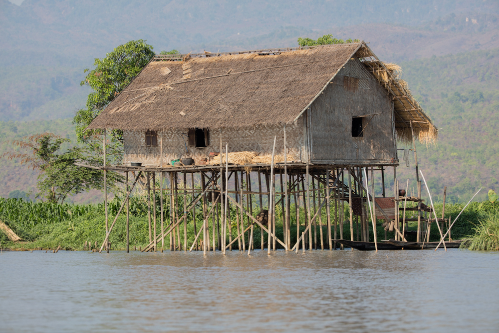 Stilt houses at Inle Lake