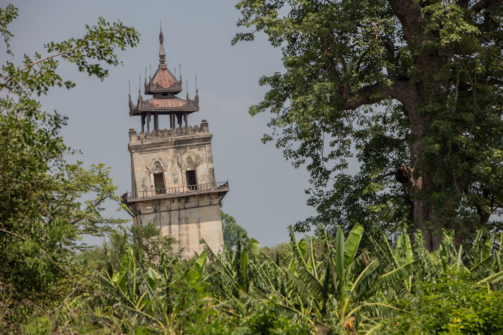 Skew watch tower in Inwa