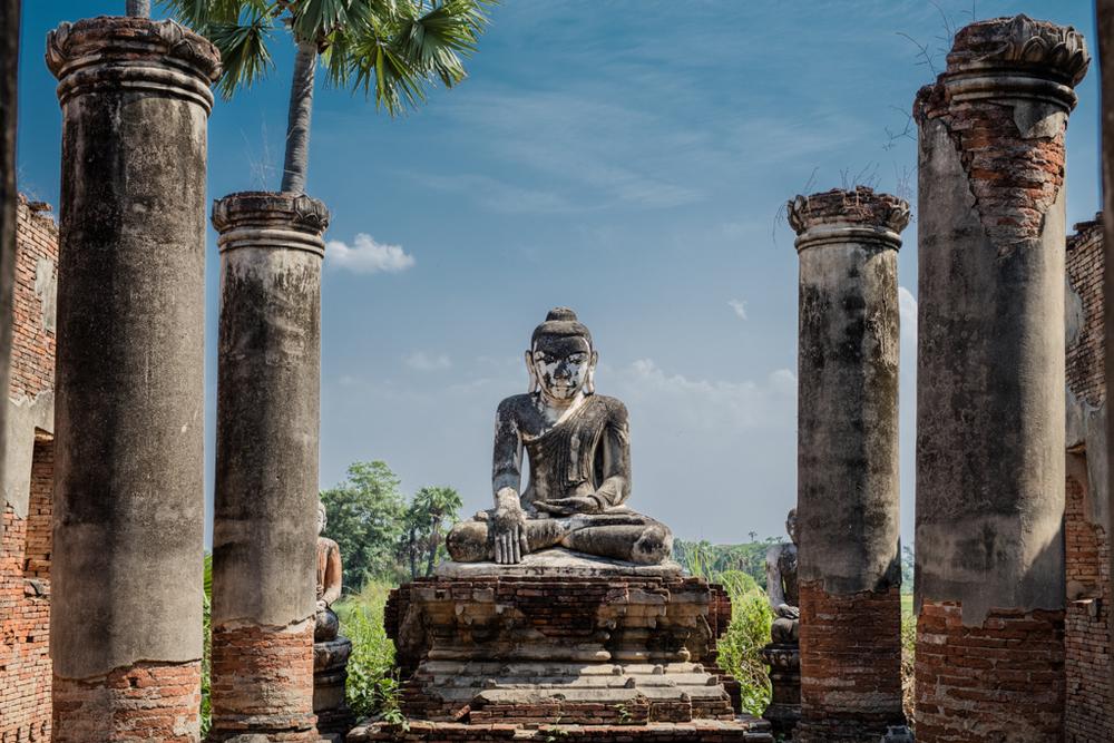 Buddha statue in Inwa