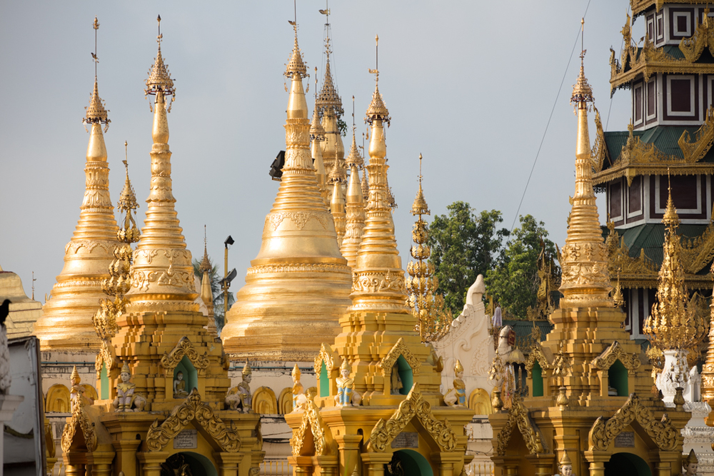 Pagodas at Shwedagon