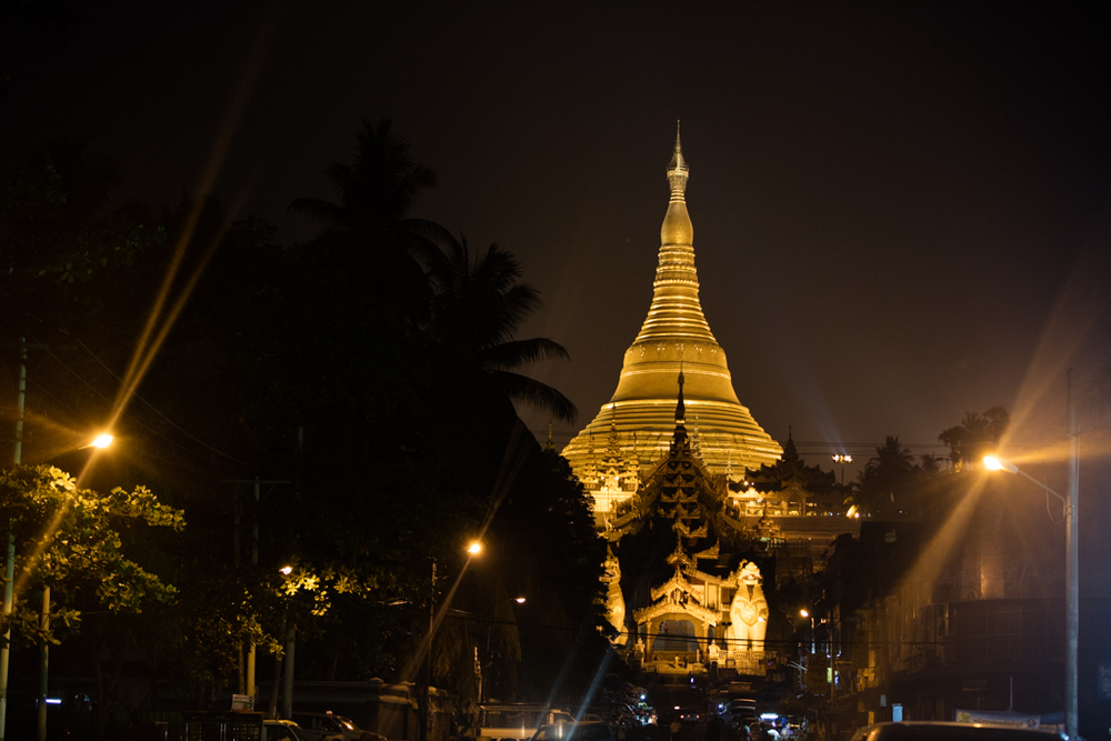 Shwedagon Pagoda in the morning