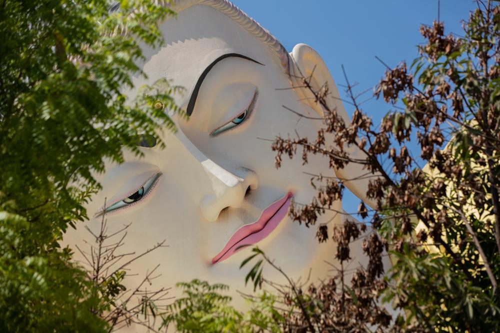 Framed Buddha face
