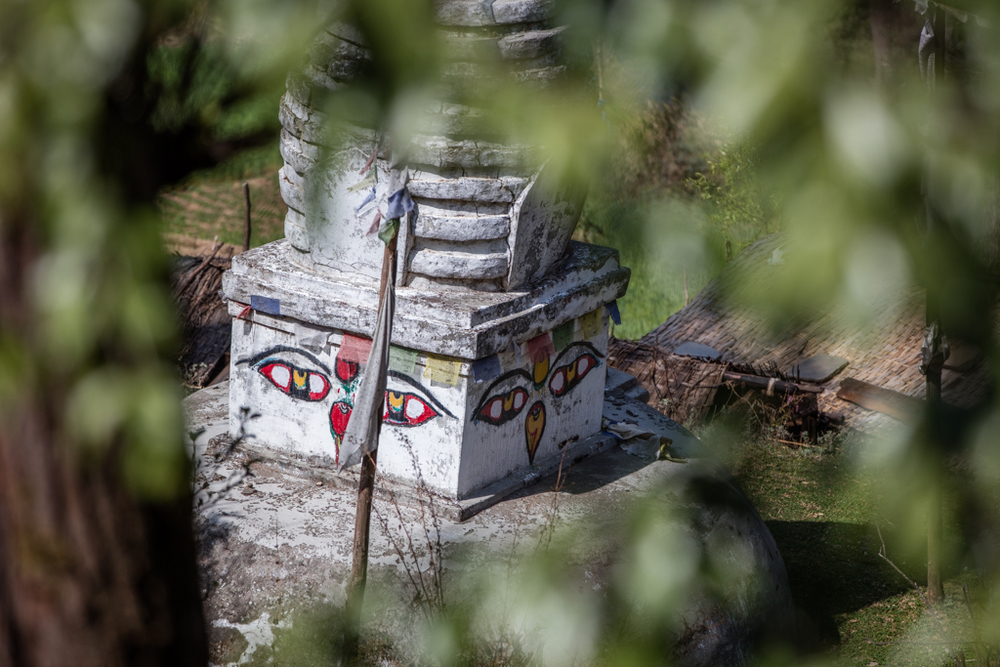 Face of stupa in Sete