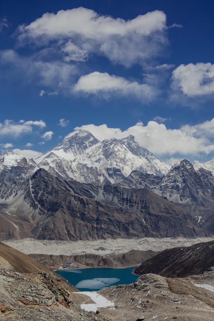 Mount Everest with Gokyo Lake