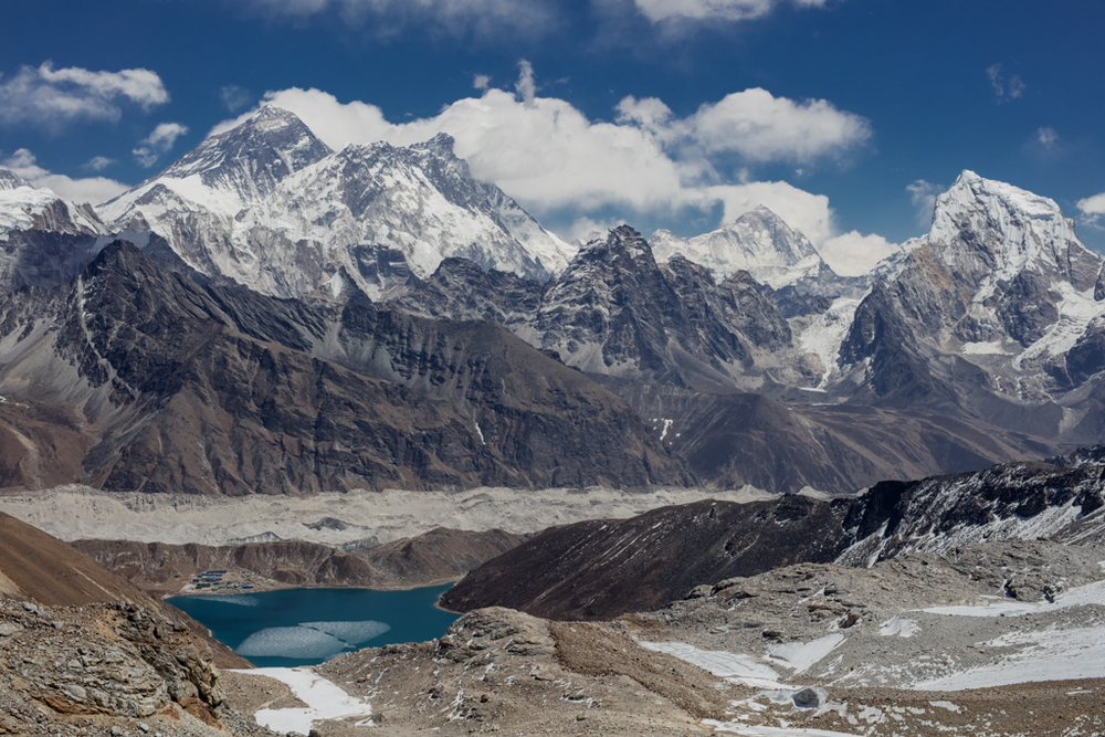 Clouds developing on Mt. Everest