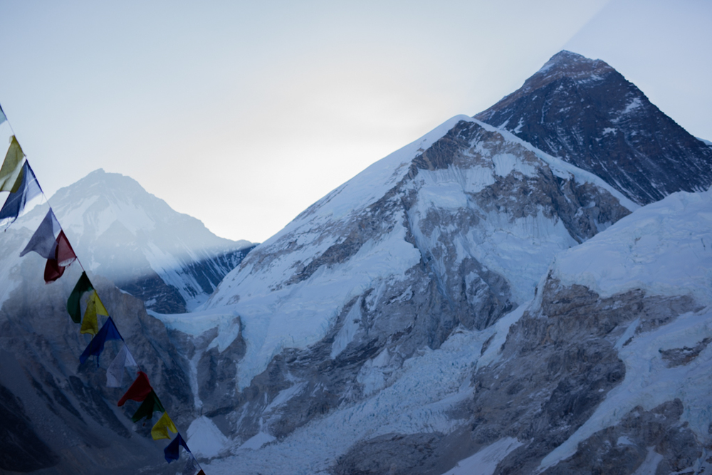 Sunrays at Mt. Everest