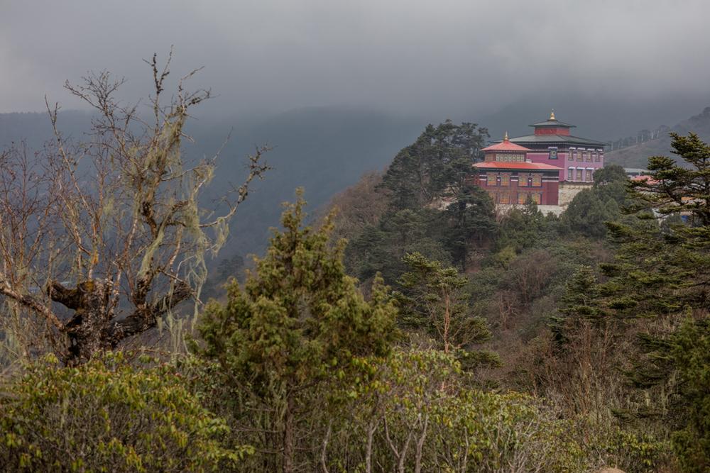 Tengboche monastery in the evening