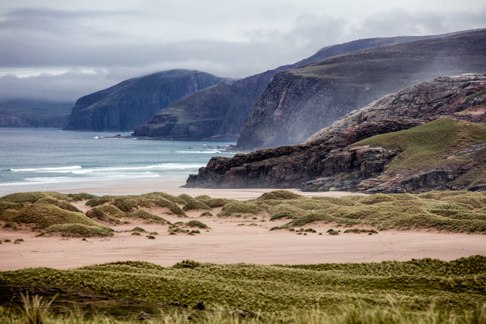 Beautiful beach in Scotland