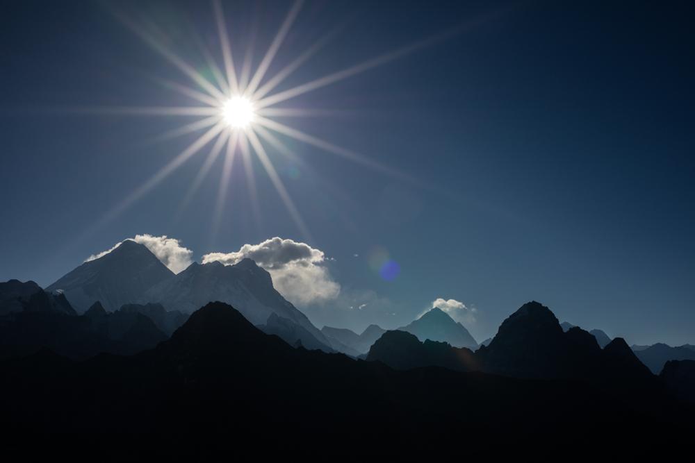 Mount Everest after sunrise