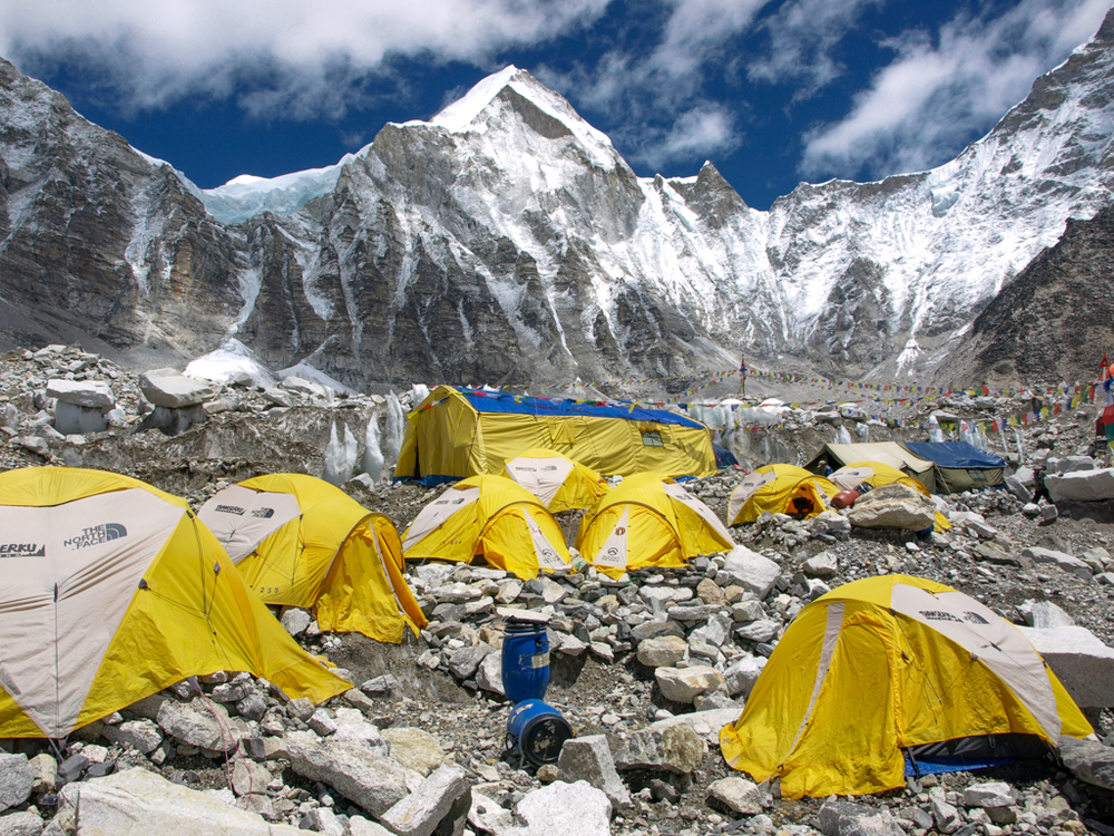 Tents at Everest Base Camp in 2008