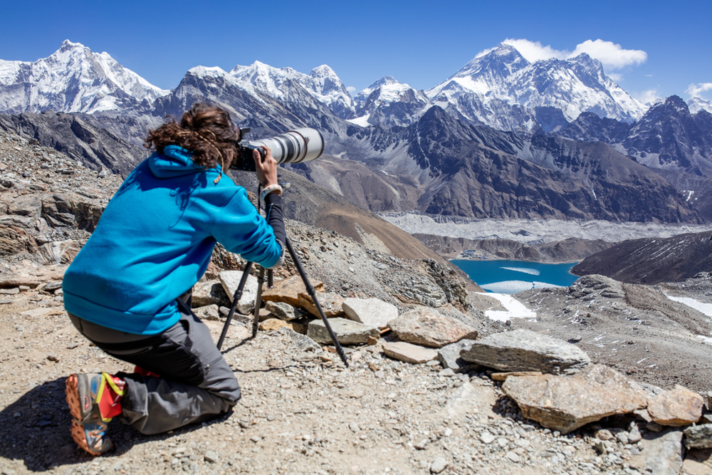 Everest from Reno La (5320m)