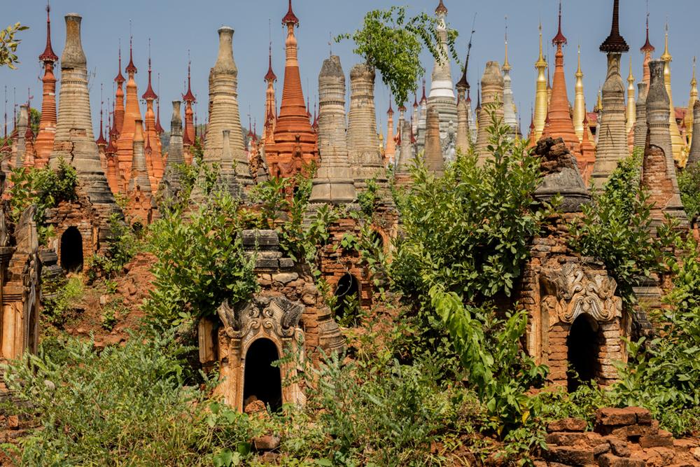 Thousands of stupas in Myanmar