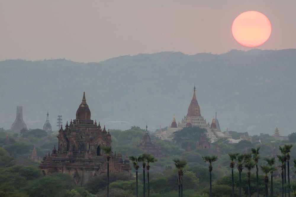 Sunset in Bagan/Myanmar