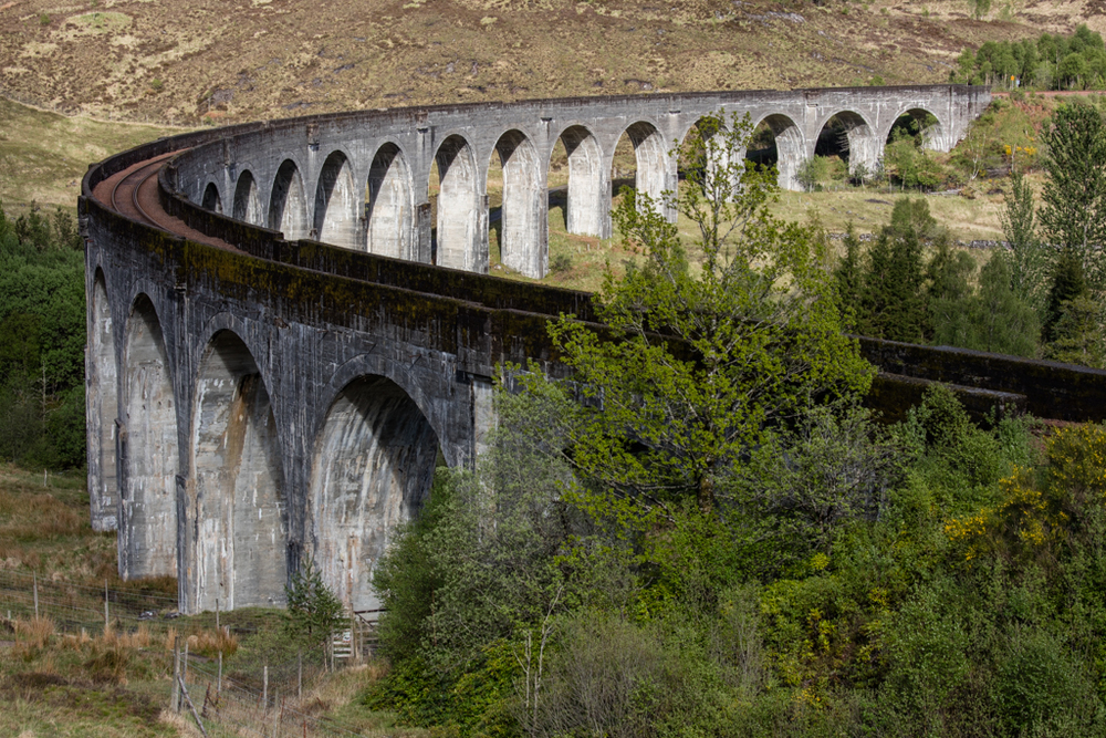 Viaduct in the Highlands of Scotland