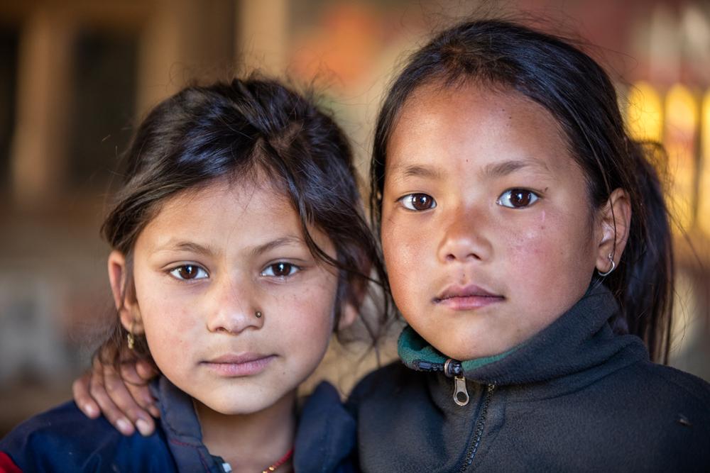 Nepalese children close to Bhandar
