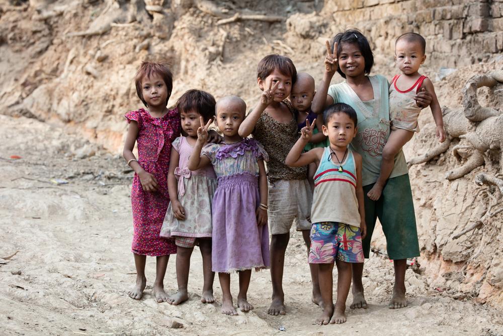 Kids in Mrauk U