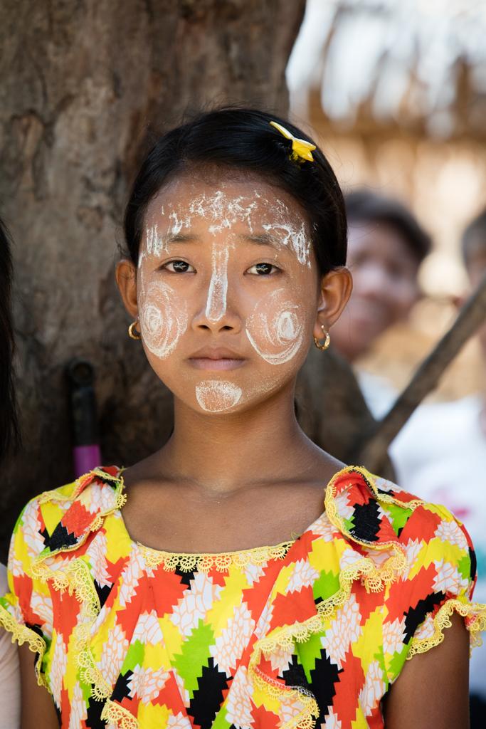 Girl with Thanaka creme