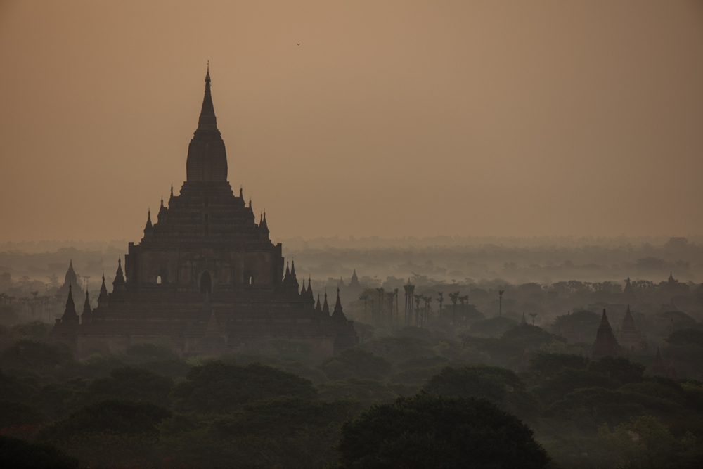 Bagan after sunset