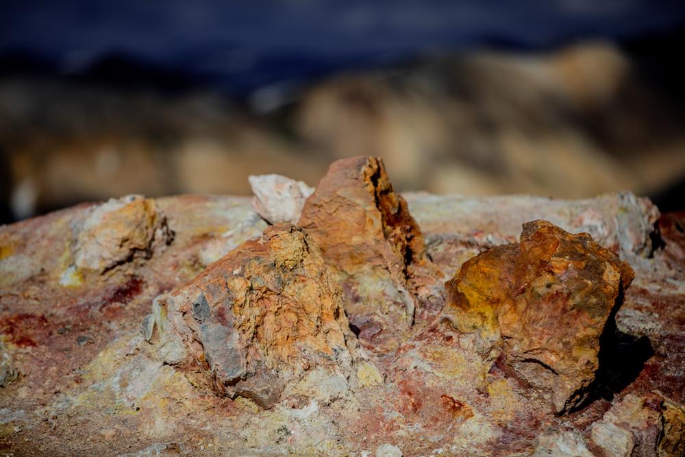 Colorful stones of Brennisteinsalda
