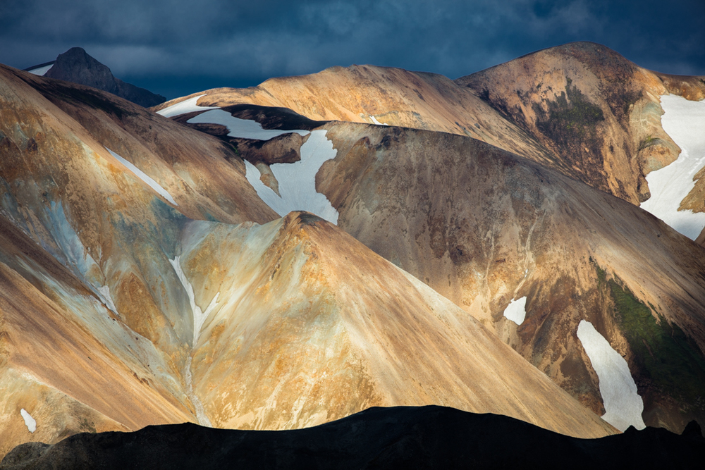 Colorful moutains in the sun