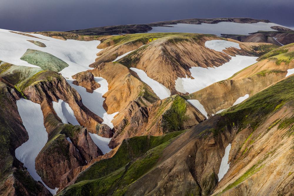 Rhyolite mountains in Landmannalaugur