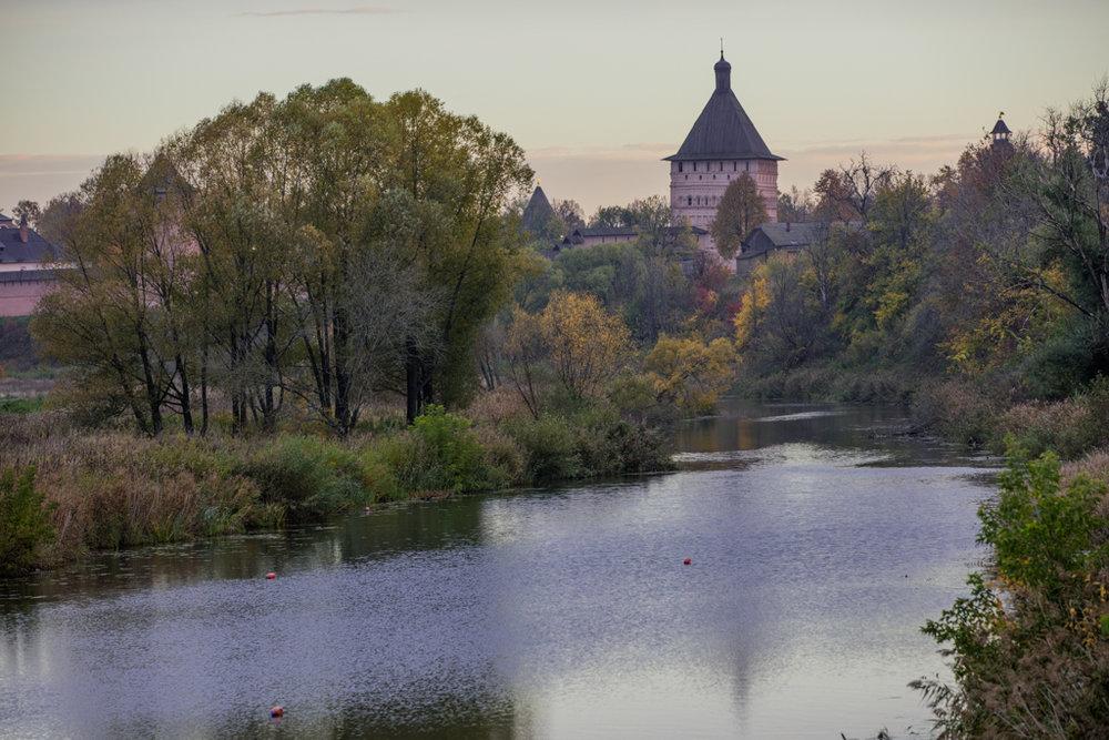 Kamenka river with the Monastery of Saint Euthymius