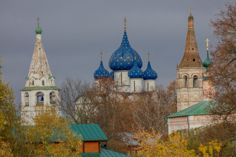 Bell Tower, the Cathedral of the Nativity and Church St. Nicholas