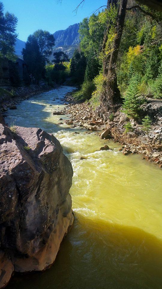 The Uncompahgre River in Ouray, Colorado.